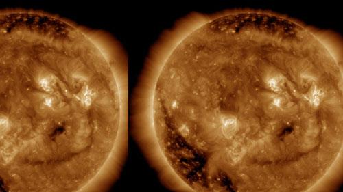 matahari,tersenyum,NASA