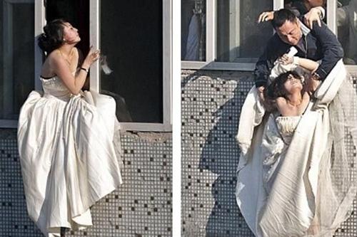 wanita,frustasi,bunuh diri,gaun pengantin