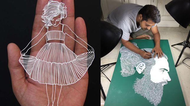 Karya seni epik dari kertas oleh seniman India