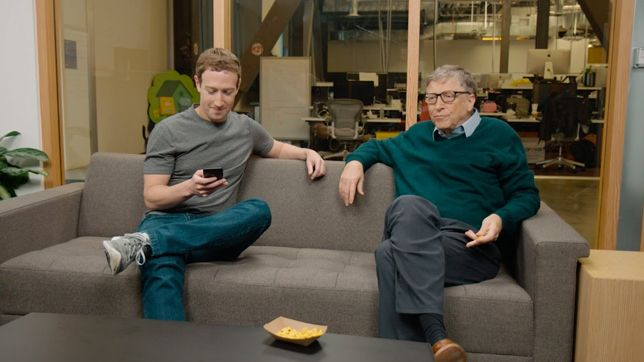 Dua orang super kaya di dunia, Bill Gates & Mark Zuckerberg