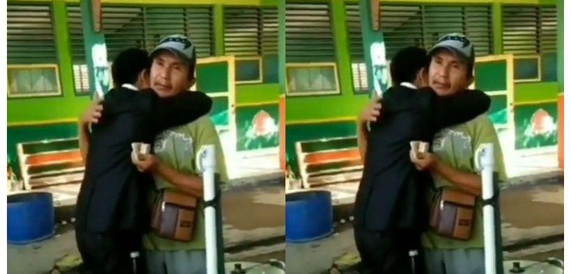 Video : Lulus Sarjana, Pria ini Peluk Ayahnya saat Jualan Siomay
