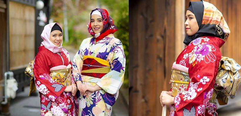Perusahaan Jepang Kini Ciptakan Kimono Syari, Lengkap dengan Hijab