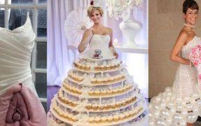 10 Gaun Pengantin Paling Aneh Sedunia! Ada Bentuk Vagina hingga Kue