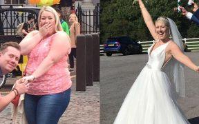Potret Katy Peters saat diet untuk gaun impiannya