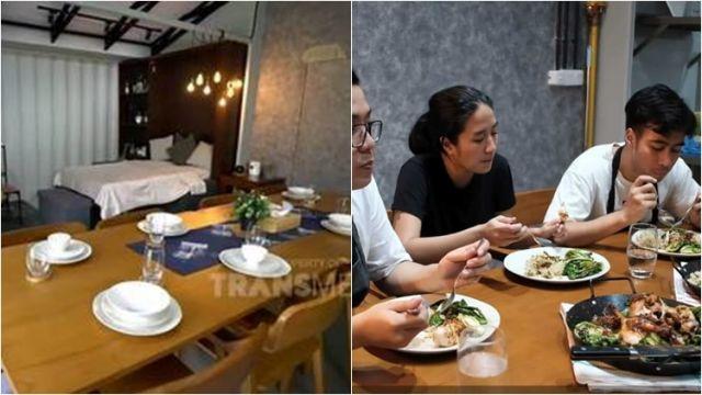 Meja makan kayu dengan konsep memanjang
