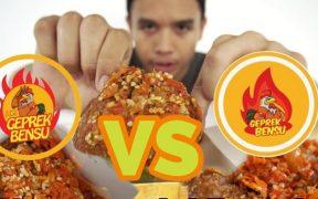 Ayam Geprek Bensu vs I am Geprek Bensu