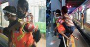 Viral petugas KRL gendong penyandang disabilitas
