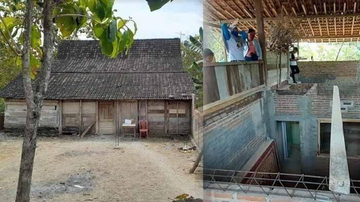 Penampakan rumah pindah tempat di Ngawi