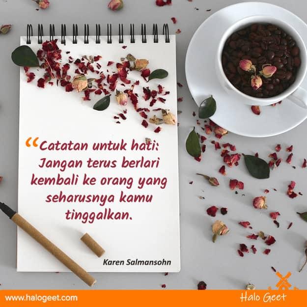Quotes move on dari mantan kekasih