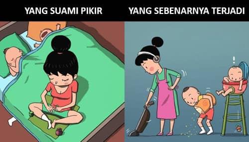3. Pekerjaan bersih- bersih ibu rumah tangga nggak pernah selesai