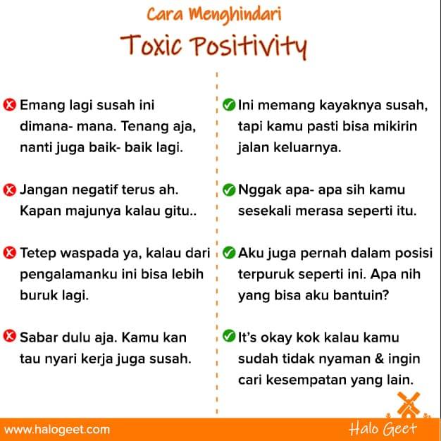 Cara menghindari toxic positivity