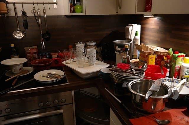 Dapur berantakan
