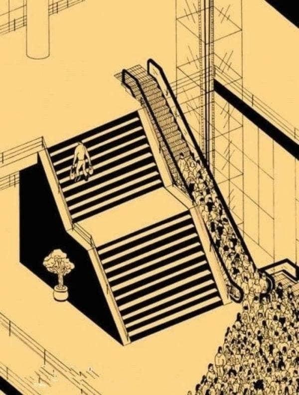 Ilustrasi berpikir positif tentang Memilih jalan terbaik