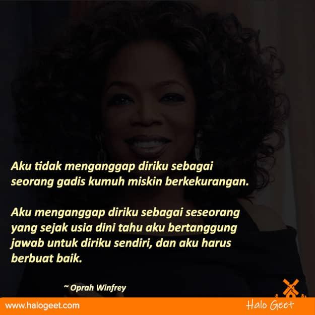 Quotes upgrade kemampuan diri dari Oprah Winfrey