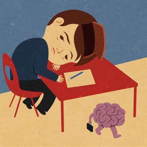 5. Otak yang kosong