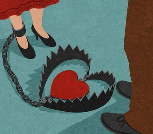 7. Terjebak dalam cinta
