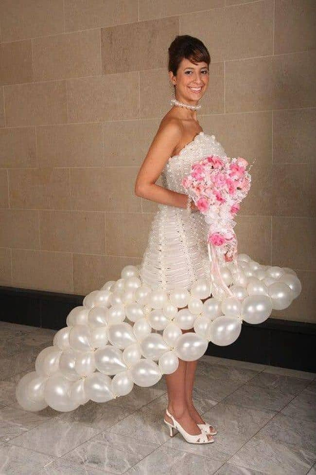 Gaun pengantin berbentuk balon