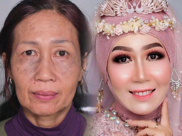Transformasi nenek terlihat lebih muda karena make up Ari Izam