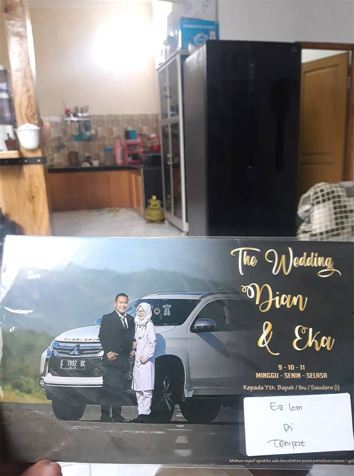 Undangan pernikahan Dian Eka