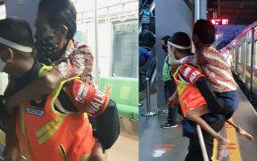 Viral Petugas KRL Gendong Disabilitas