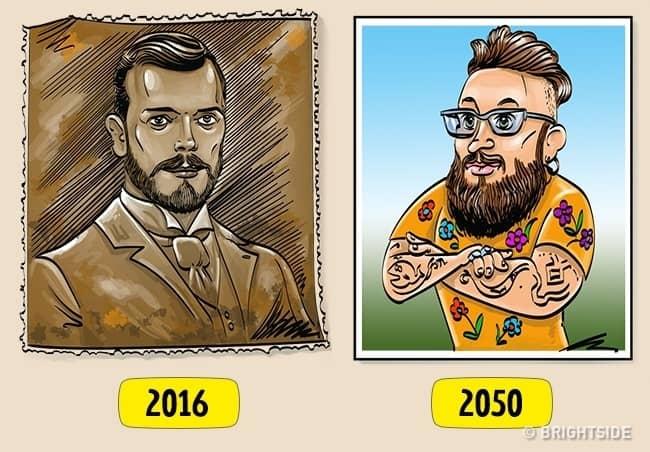 10. Beda foto kakek di tembok pada zaman dulu vs zaman sekarang