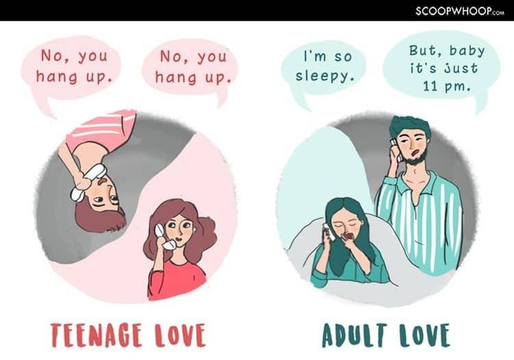 Pacaran ala remaja vs dewasa saat teleponan
