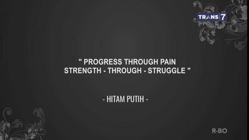 3. Kemajuan dilalui dengan rasa sakit