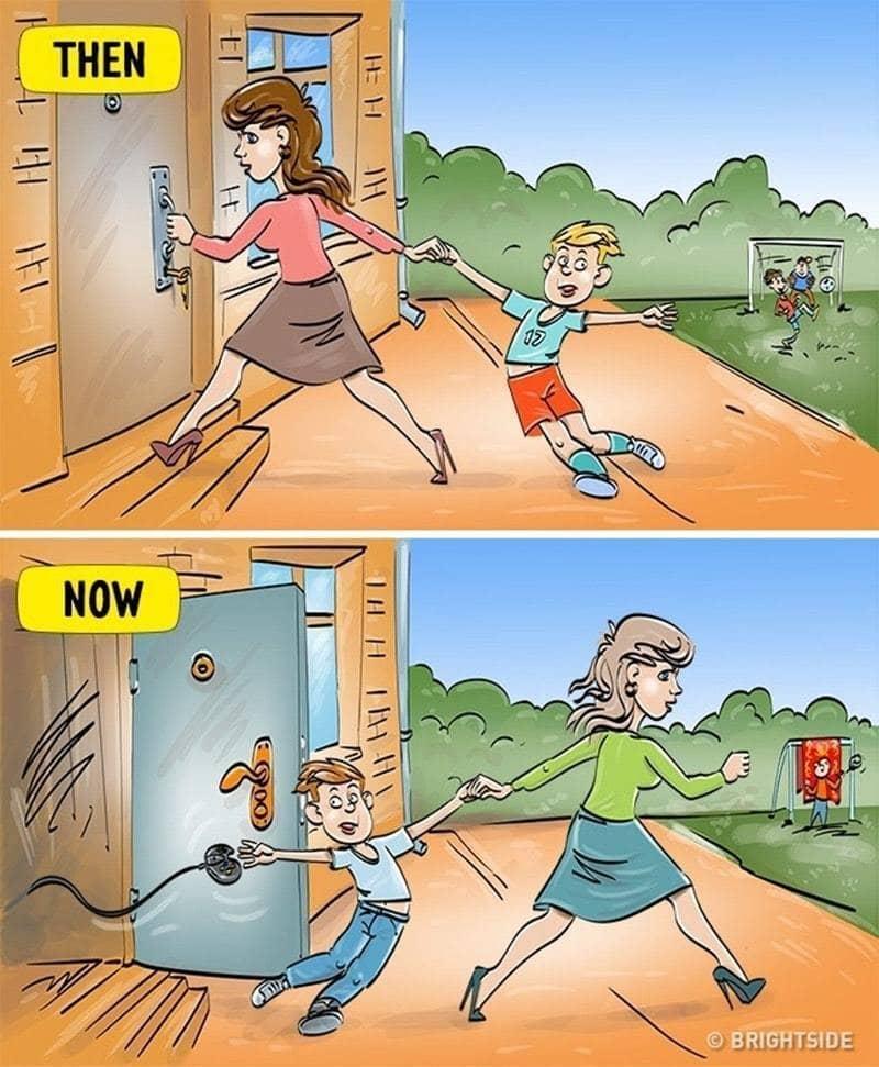 3. Anak zaman dulu dan anak zaman sekarang soal bermain di luar