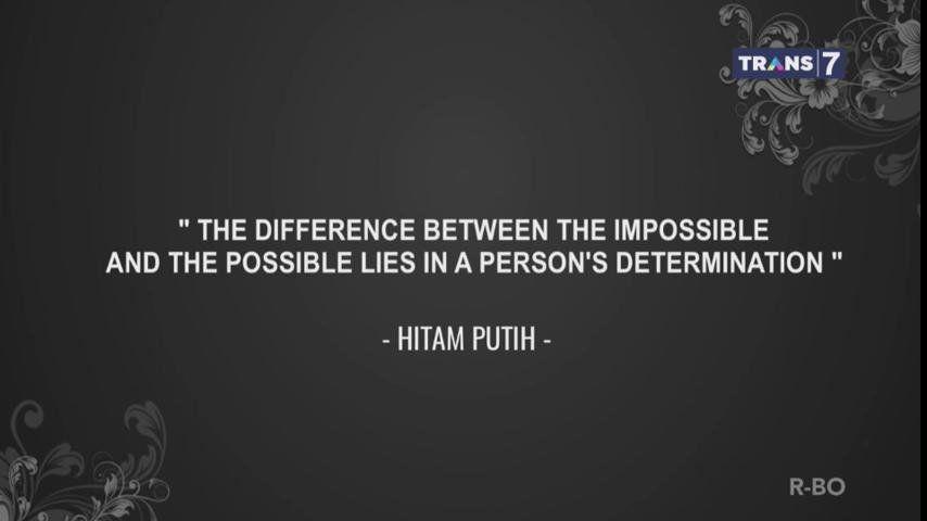 8. Perbedaannya terletak di tekad seseorang